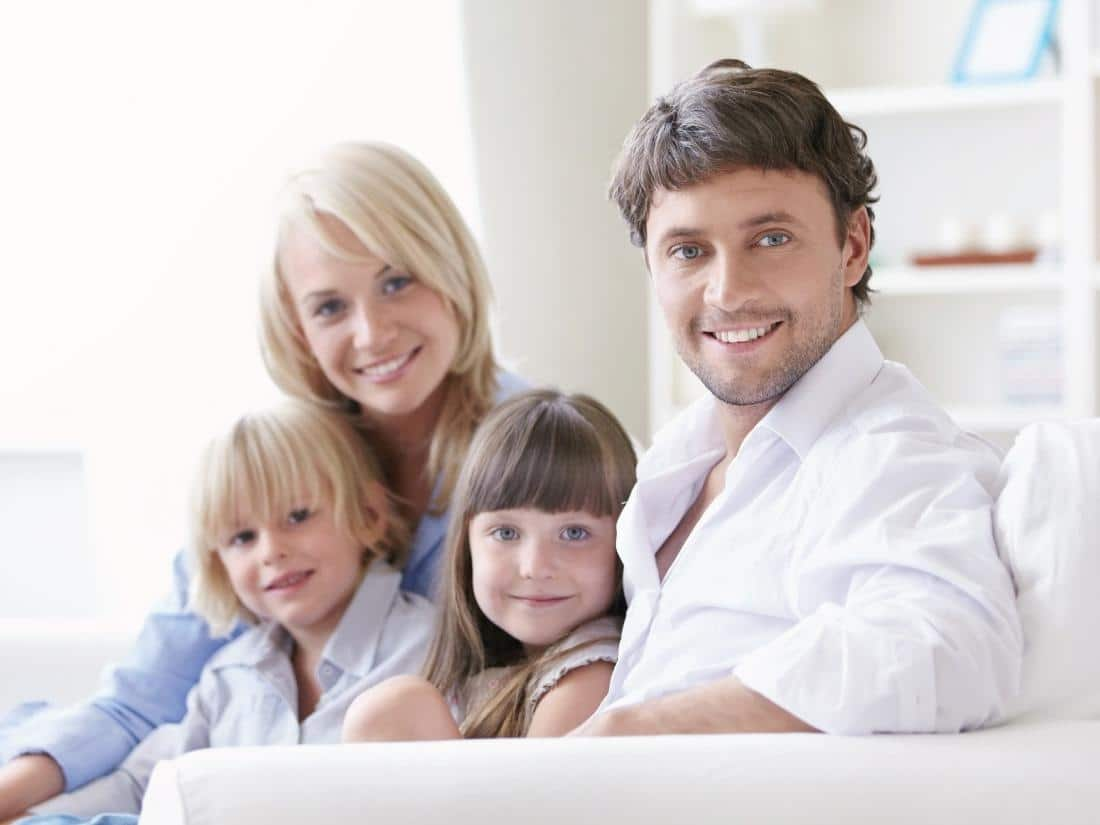 family visiting general dentist in Scottsdale, AZ