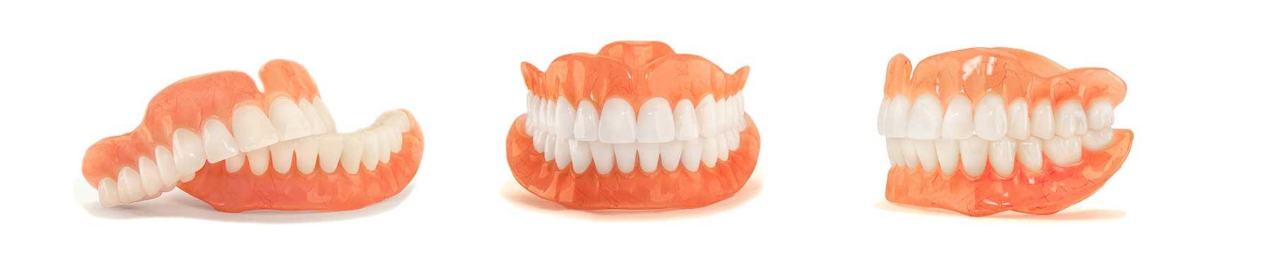 complete set of full dentures
